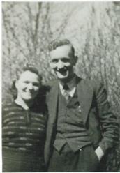 initiatiefnemers oprichting dorpsvereniging Henk en Alie Aukes 1945
